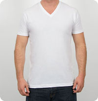 N3200 Next Level Apparel -   N3200 Next Level Men's Premium Fitted Short-Sleeve V  V-Neck T-Shirt