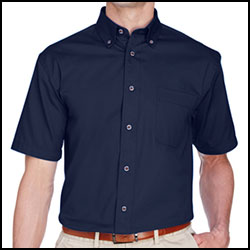 Harriton Easy Blend™ Twill Short Sleeve Button Down Shirt