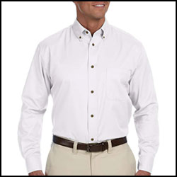 Harriton Men's Button Down Twill Shirt