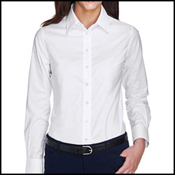 Harriton Women's Long Sleeve Oxford Shirt