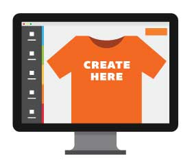 make custom t-shirts online in our apparel design studio